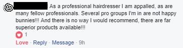UK pro hairdresser