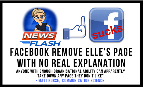 Elle's Facebook Page Removed