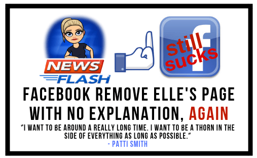 Elle's 2nd Facebook Page Removed