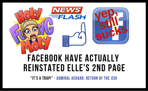 Elle's 2nd Facebook Page Reinstated