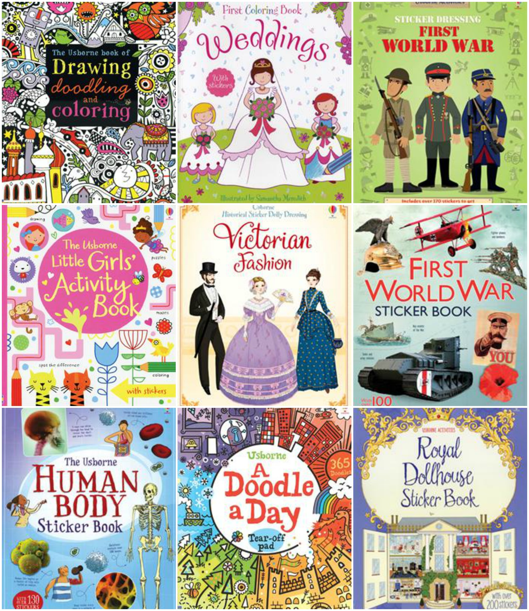 Usborne stickers-